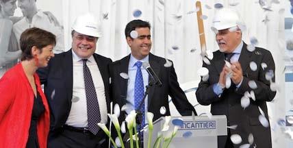 Regent's New Seven Seas Explorer ceremony