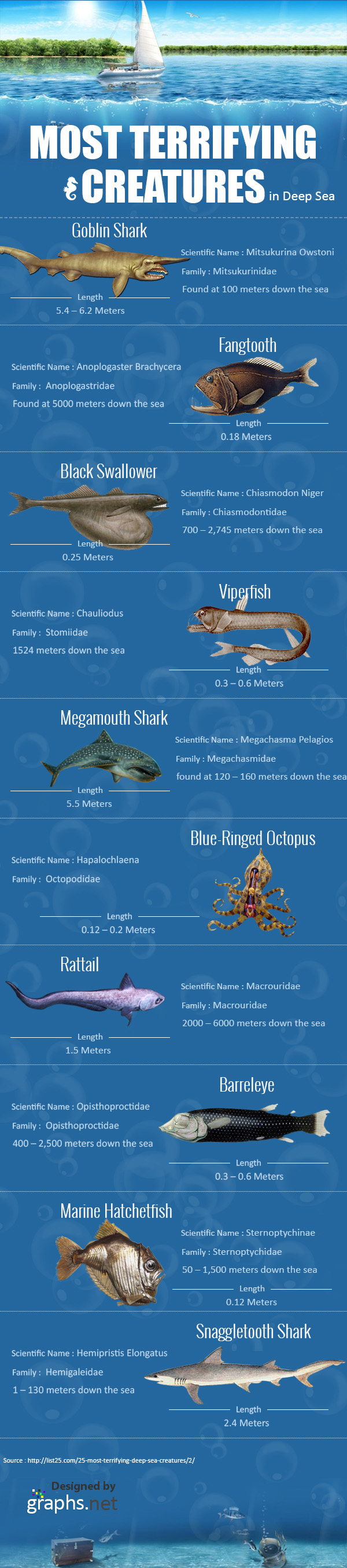 Infographic - Most-Terrifying-Creatures-in-Deep-Sea