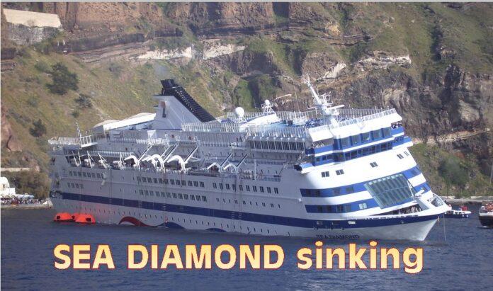 Flashback In Maritime History Sea Diamond Sinking At Santorini 5 April 2007 Maritimecyprus